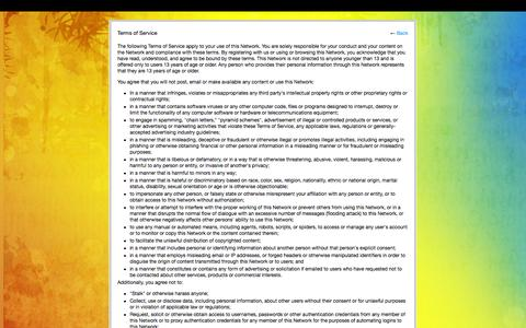 Screenshot of Terms Page mumbairock.com - Terms of Service - MumbaiRock - captured Oct. 31, 2014