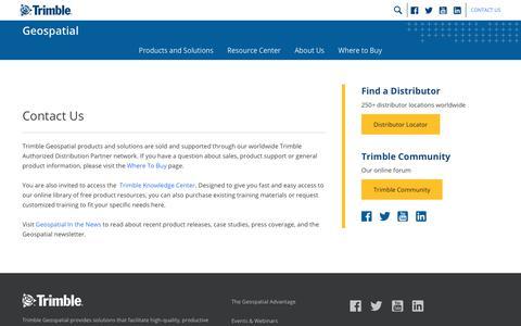 Screenshot of Contact Page trimble.com - Contact Us | Trimble Geospatial - captured Oct. 9, 2017