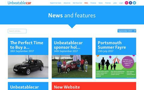 Screenshot of Press Page unbeatablecar.com - Car News, Advice & Reviews | Unbeatablecar - captured Oct. 26, 2017