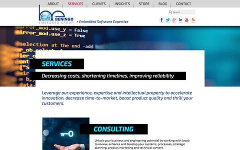 Screenshot of Services Page beningo.com - Services – Beningo Embedded Group - captured Oct. 10, 2017