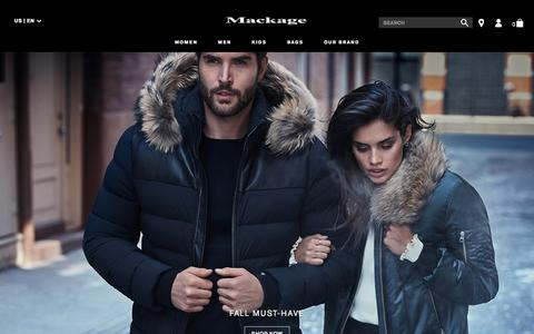 MACKAGE | Visit MACKAGE.com for the latest in designer leather jackets, wools coats, down coats & trenches for men & women