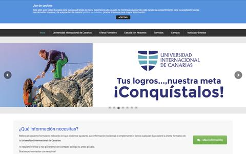 Screenshot of Home Page unidam.es - Universidad Internacional de Canarias | Middle Atlantic Campus - captured Nov. 25, 2016