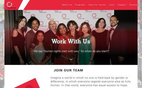 Screenshot of Jobs Page breakthrough.tv - Work With Us - Breakthrough U.S. - captured Oct. 6, 2018