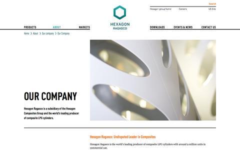 Screenshot of About Page hexagonragasco.com - Our Company - Hexagon Ragasco - captured Oct. 1, 2014