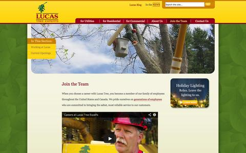 Screenshot of Signup Page lucastree.com - Lucas Tree Experts provides tree and lawn care and more. | Lucas Tree Experts - captured Oct. 3, 2014