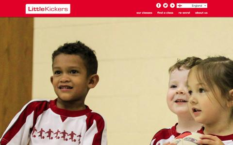 Screenshot of Signup Page littlekickers.co.uk - Find Little Kickers® classes and venues near you for pre school and junior football coaching - captured Sept. 19, 2014