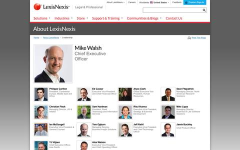Screenshot of Team Page lexisnexis.com - LexisNexis Legal & Professional Global Leadership - captured Sept. 24, 2016