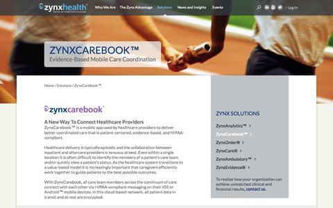 Screenshot of Case Studies Page careinsync.com - Case Studies - CareInSync - captured June 17, 2015