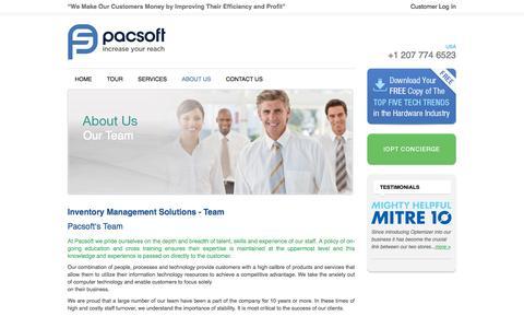 Screenshot of Team Page pacsoft.com - Pacsoft Team – the best Inventory Management System - captured Sept. 27, 2014