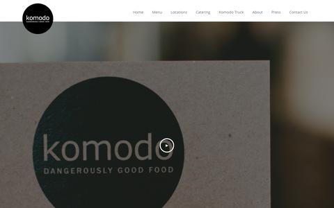 Screenshot of About Page komodofood.com - About | Komodo - captured Feb. 12, 2016