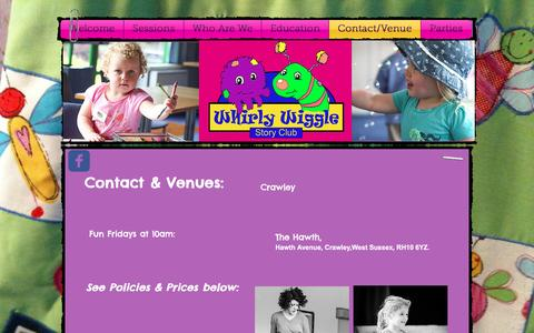 Screenshot of Contact Page whirlywiggle.com - Whirly Wiggle Story Club Crawley, Horsham, Reigate - captured Dec. 3, 2016