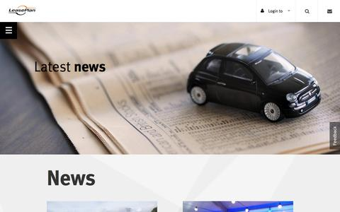 Screenshot of Press Page leaseplan.com.au - News | LeasePlan - captured Nov. 1, 2016