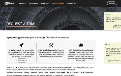 Screenshot of Trial Page 5gfuture.com - 5gFuture - Request a trial - captured Dec. 19, 2016