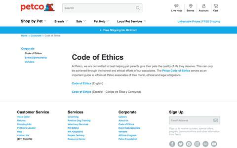 Code of Ethics | Petco