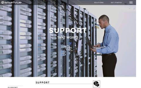 Screenshot of Support Page smartvue.com - SUPPORT   Smartvue - captured Jan. 23, 2016