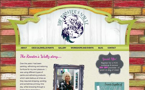 Screenshot of About Page theroosterswaltz.com - About The Rooster's Waltz   CeCe Caldwell's Paints   Torontotheroosterswaltz.com - captured March 17, 2016