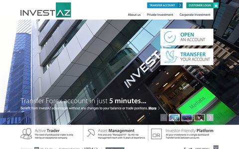 Screenshot of Home Page invest-az.com - Investment, Brokerage and Consulting Services | InvestAZ - captured Jan. 28, 2015