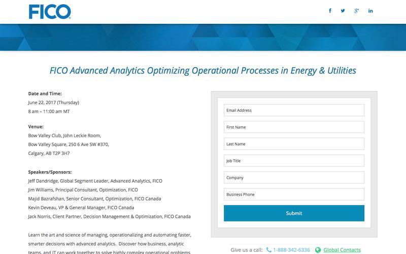 FICO Advanced Analytics Optimizing Operational Processes in Energy & Utilities
