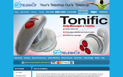 Screenshot of Terms Page myteleshop.com - My Teleshop Terms and Conditions | How To Claim Warranty | How To Claim Online - captured Oct. 31, 2014