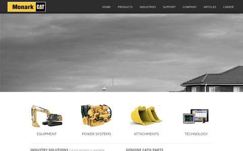 Screenshot of Products Page monark-cat.com - NEW - captured Oct. 20, 2019