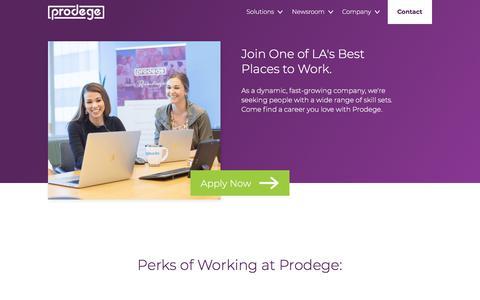 Screenshot of Jobs Page prodege.com - Careers   Prodege         :        Prodege - captured Feb. 3, 2020