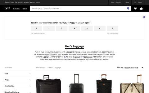 Shop Men's Luggage