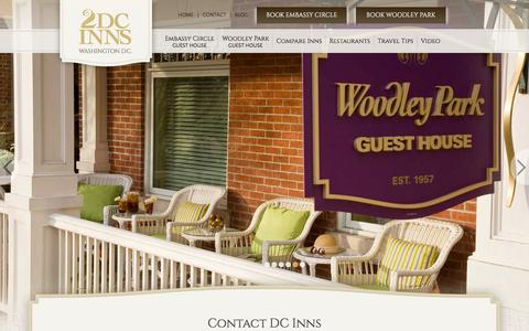 Screenshot of Contact Page dcinns.com - Boutique Hotels in Washington DC :: Two Top Rated Beautiful Hotels - captured Jan. 28, 2016