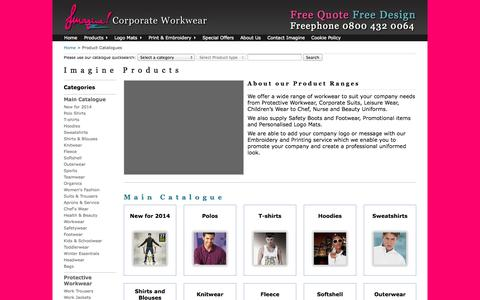 Screenshot of Products Page corporateworkwear.com - Corporate Workwear |  |  |  | no year association - captured Oct. 6, 2014