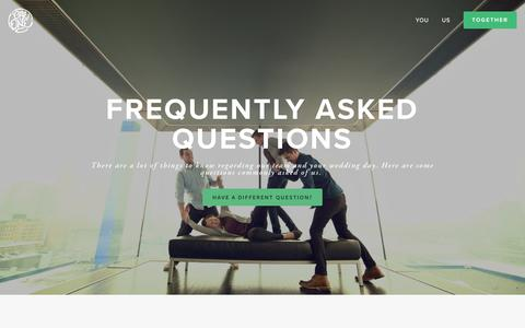 Screenshot of FAQ Page oneone.co - Frequently Asked Questions — One:One - captured Feb. 17, 2016