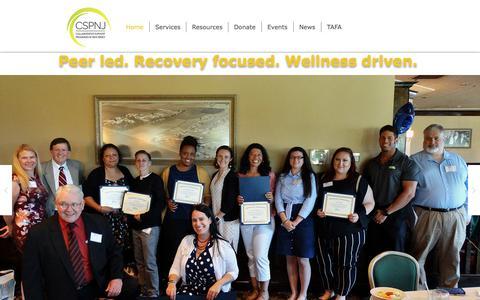 Screenshot of Home Page cspnj.org - CSPNJ Collaborative Support Programs|NJ - captured Sept. 29, 2018