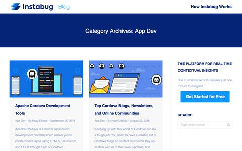 Screenshot of Developers Page instabug.com - App Dev Archives | Page 3 of 8 | Instabug Blog - captured Dec. 3, 2019