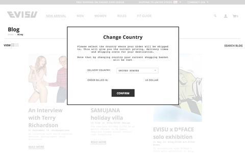 Screenshot of Blog evisu.com - Evisu Blog - captured Sept. 19, 2014
