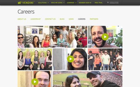 Screenshot of Jobs Page vendini.com - Careers | Ticketing, Box Office Software, Event Promotion, Event Management & Logistics | Vendini - captured Oct. 22, 2015
