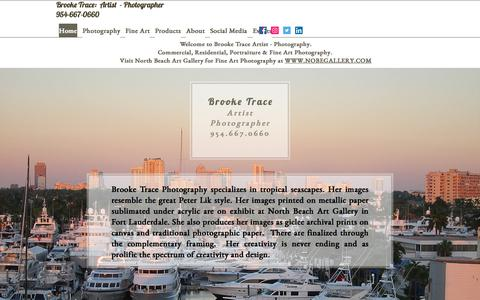 Screenshot of Home Page brooketrace.com - Brooke Trace | Fort Lauderdale | Brooke Trace Photography - captured Oct. 11, 2017