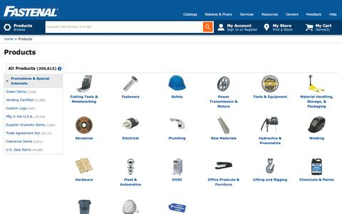 Products                                                                                                         | Fastenal
