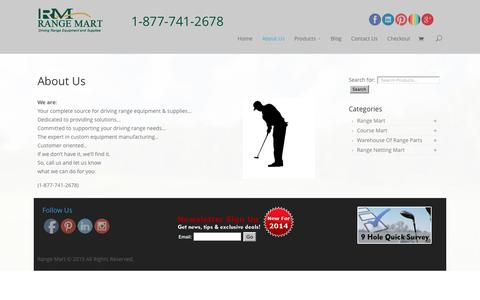 Screenshot of About Page rangemart.com - About Us | Golf & Driving Range Supplies | Range Mart - captured Aug. 16, 2016