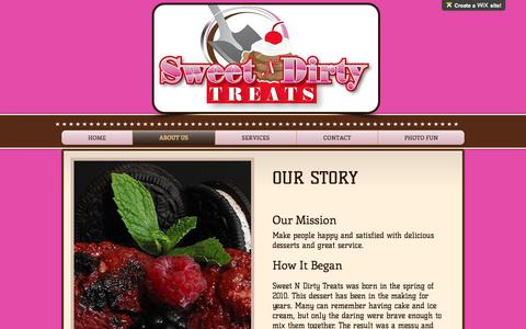 Screenshot of About Page sweetndirtytreats.com - sndthtml | ABOUT US - captured Dec. 6, 2016