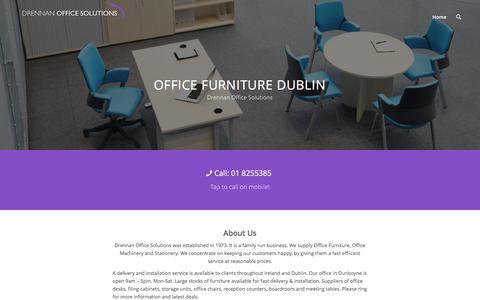 Screenshot of Home Page drennanofficesolutions.ie - Office Furniture Dublin | Drennan Office Solutions - captured Aug. 2, 2016