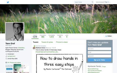 Screenshot of Twitter Page twitter.com - Yann Graf (@yanngraf) | Twitter - captured Nov. 2, 2014