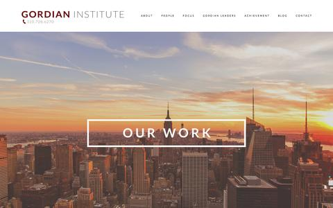 Screenshot of Case Studies Page gordianinstitute.com - Case Studies — Gordian Institute - captured July 25, 2015