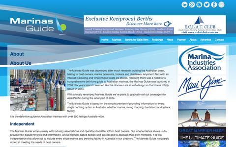 Screenshot of About Page marinasguide.com.au - About | Marinas Guide - captured Nov. 2, 2014