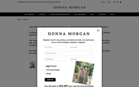 Screenshot of About Page donna-morgan.com - About Us - captured Jan. 17, 2016