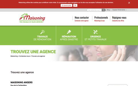 Screenshot of Contact Page maisoning.com - Trouver une agence Maisoning - captured Oct. 5, 2017