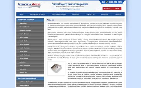 Screenshot of About Page inspectiondepot.com - Inspection Depot Inc - Third Party Inspection and Insurance Claims Processing Administrator - captured Sept. 30, 2014
