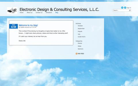 Screenshot of Blog electronicdesigns.com - Blog - captured Oct. 2, 2014