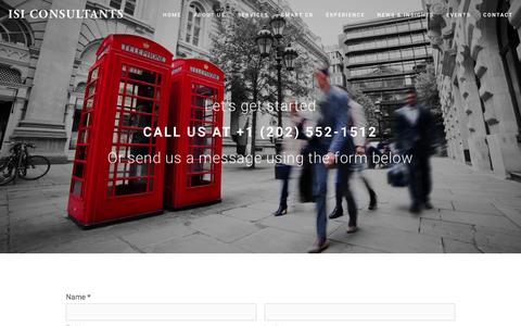 Screenshot of Contact Page isi-consultants.com - Contact Ń ISI Consultants - captured Dec. 21, 2015