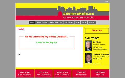 Screenshot of Home Page metrohomesmarket.com - Metro Homes Market – REALTOR - captured Feb. 13, 2016