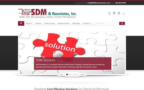 Screenshot of Home Page sdmassociatesinc.com - SDM & Associates, Inc. ISO9001 Certified Company - captured May 25, 2017