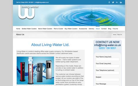Screenshot of About Page living-water.co.uk - About Living-Water Ltd | Water Delivery Company - captured Nov. 10, 2016
