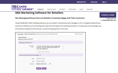 SMS Marketing Software & Services for Retailers | CodeBroker